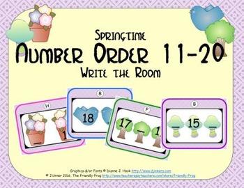 Springtime Number Order 11-20