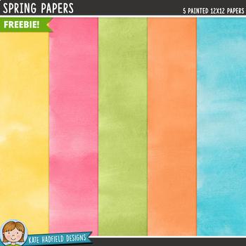 Springity Spring Digital Papers