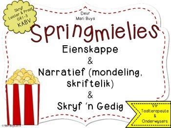 Afrikaans Springmielie Narratief en Gedig Graad 1-3 KABV (en 'n Gratis Iets!)