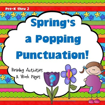 Spring's a Popping Punctuation Posters, Play Dough Mats, a