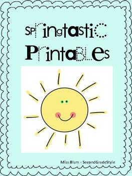 Springtastic Printables! Writing/math/phonics/grammar activities