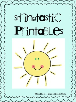 Springtastic Printables! Writing/math/phonics/grammar activities