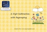 Spring Time Theme 2 digit subtraction with regrouping Smart Board Lesson