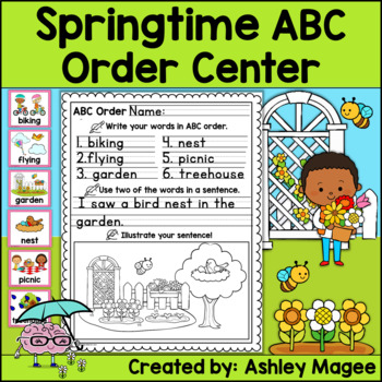 Springtime ABC Order Center/Station with differentiation options