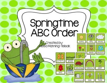 Springtime ABC Order {Literacy Center}