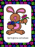 Springtime Activities Distance Learning Materiel