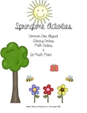 Springtime Activity Pack