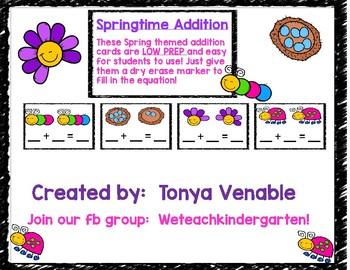 Springtime Addition Cards