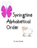 Springtime Alphabetical Order