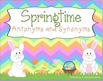 Springtime Antonyms and Synonyms