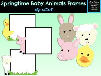 Baby Animals of Spring Frames {Clip Art Set}