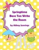 Springtime Base Ten Write the Room