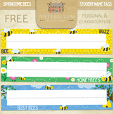 Springtime Bees Name Tags / Desk Tags