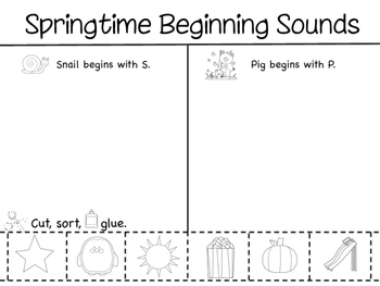 Springtime Beginning Sounds