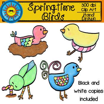 Springtime Birds Clip Art