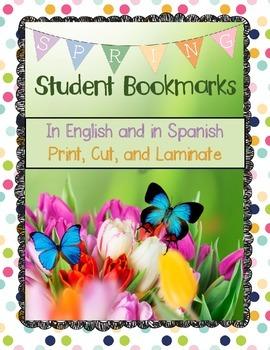 Springtime Bookmarks Freebie!