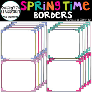 Springtime Borders {Colorful Borders}