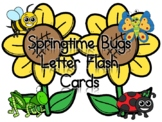 Springtime Bugs Letter Flash Cards