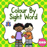 Springtime Buid A Sentence And Colour By Sight Word