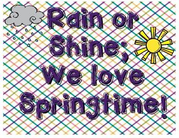 Springtime Bulletin Board Saying
