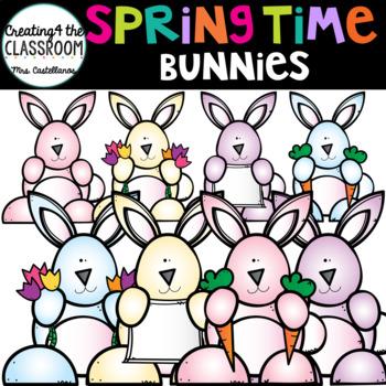 Springtime Bunnies {Spring Clip Art}