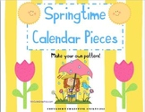 Springtime Calendar Pieces- Numbers (Make Your Own Pattern!)