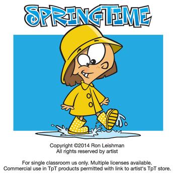 Springtime Cartoon Clipart