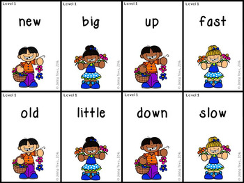 Springtime Children Antonyms: Levels 1 & 2