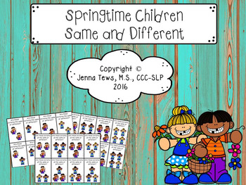 Springtime Children Same and Different