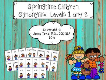Springtime Children Synonyms: Levels 1 & 2