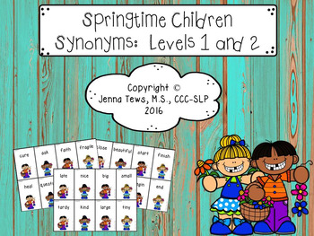 Springtime Children Synonyms: Levels 1 & 2
