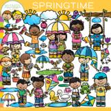 Bright and Colorful Springtime Clip Art {Whimsy Clips Spring Clip Art}