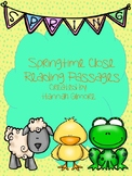 Springtime Close Reading Passages
