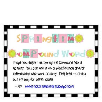 Springtime Compound Words