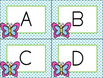 Springtime Concentration: 3 in 1 Alphabet Matching Activity