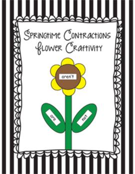Springtime Contractions Flower Craftivity