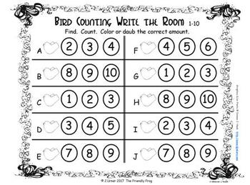 Springtime Counting 1-10 {Subitizing with Dice}