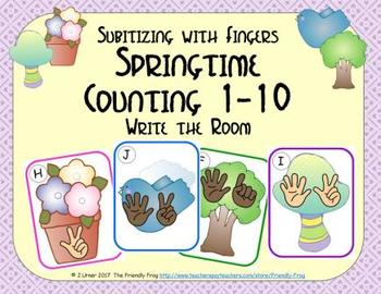 Springtime Counting 1-10 {Subitizing with Fingers}
