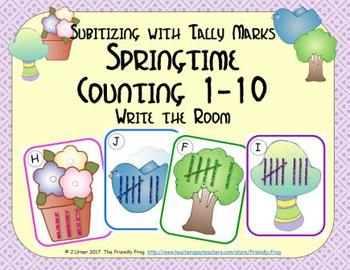 Springtime Counting 1-10 {Subitizing with Tally Marks}
