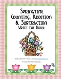 Springtime Counting, Addition & Subtraction: Write the Room