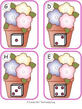 Springtime Counting 1-20 Bundle {Subitizing with Dice}