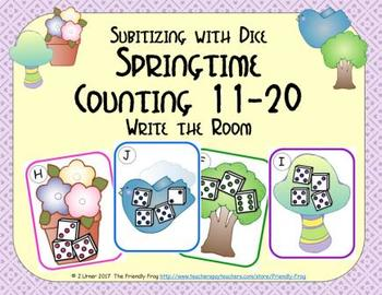 Springtime Counting 11-20 {Subitizing with Dice}