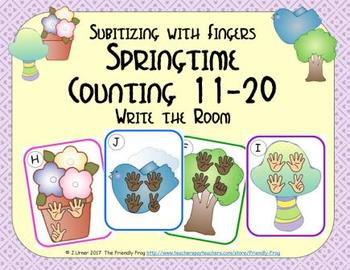 Springtime Counting 11-20 {Subitizing with Fingers}