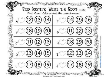 Springtime Counting 11-20 {Subitizing with Tally Marks}