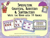 Springtime Counting, Addition & Subtraction with Ten Frames {Subitizing}
