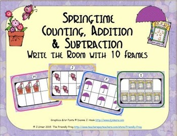Springtime Counting, Addition & Subtraction with Ten Frame