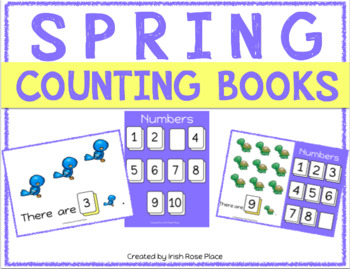 Spring Counting Books (Adapted Books)