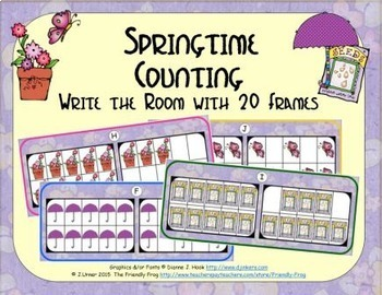 Springtime Counting with 20 Frames {Subitizing}