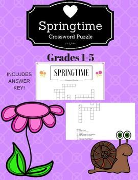 Springtime Crossword Puzzle!
