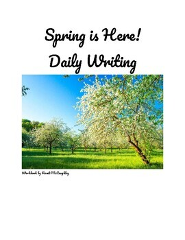Springtime Daily Writing Prompts (editable)